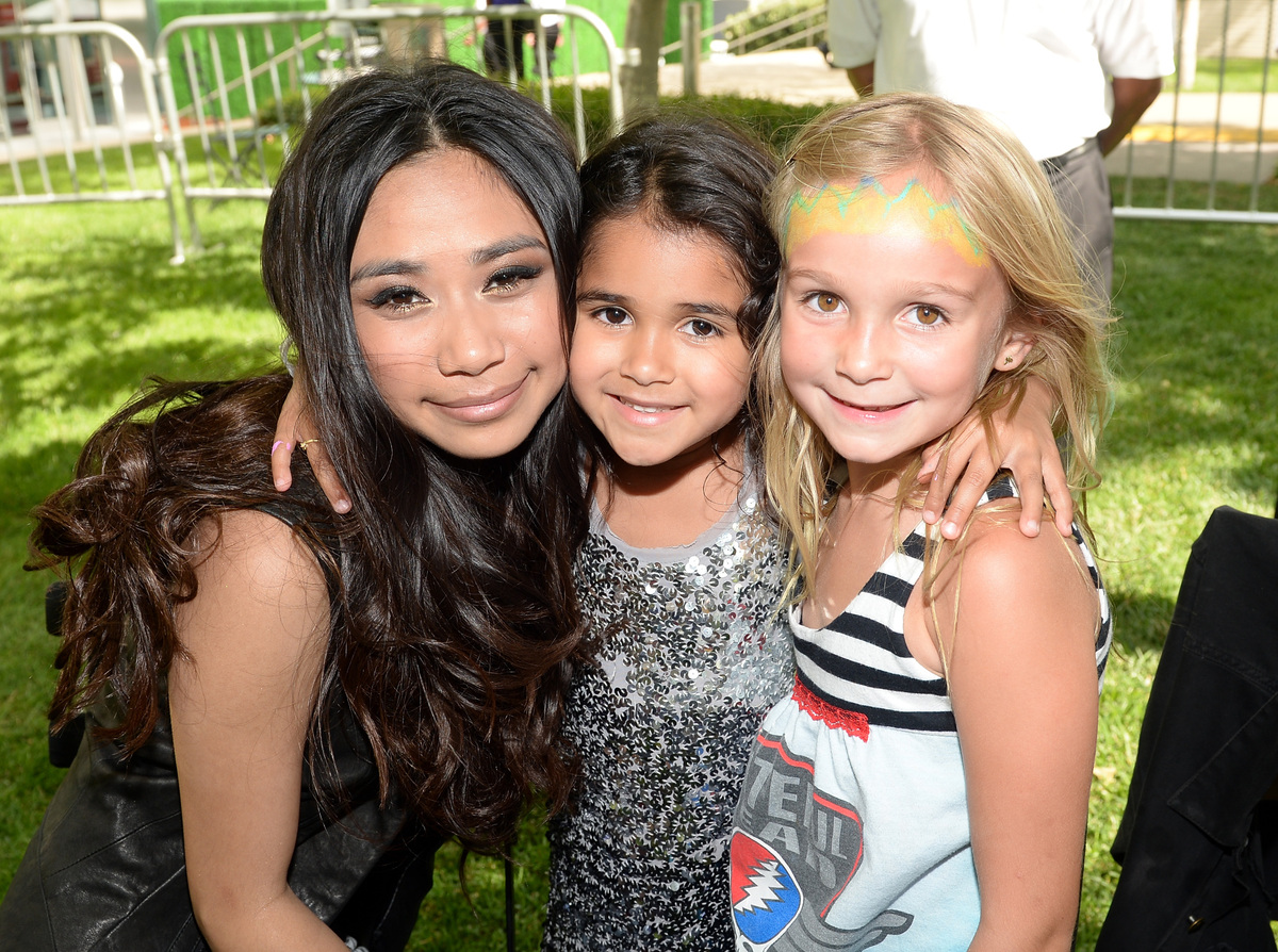 LOS ANGELES, CA - JUNE 02:  Jessica Sanchez meets with fans during the Elizabeth Glaser Pediatric AIDS Foundation's 24th Annu