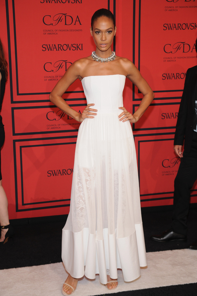 NEW YORK, NY - JUNE 03:  Joan Smalls attends 2013 CFDA FASHION AWARDS Underwritten By Swarovski - Red Carpet Arrivals at Linc