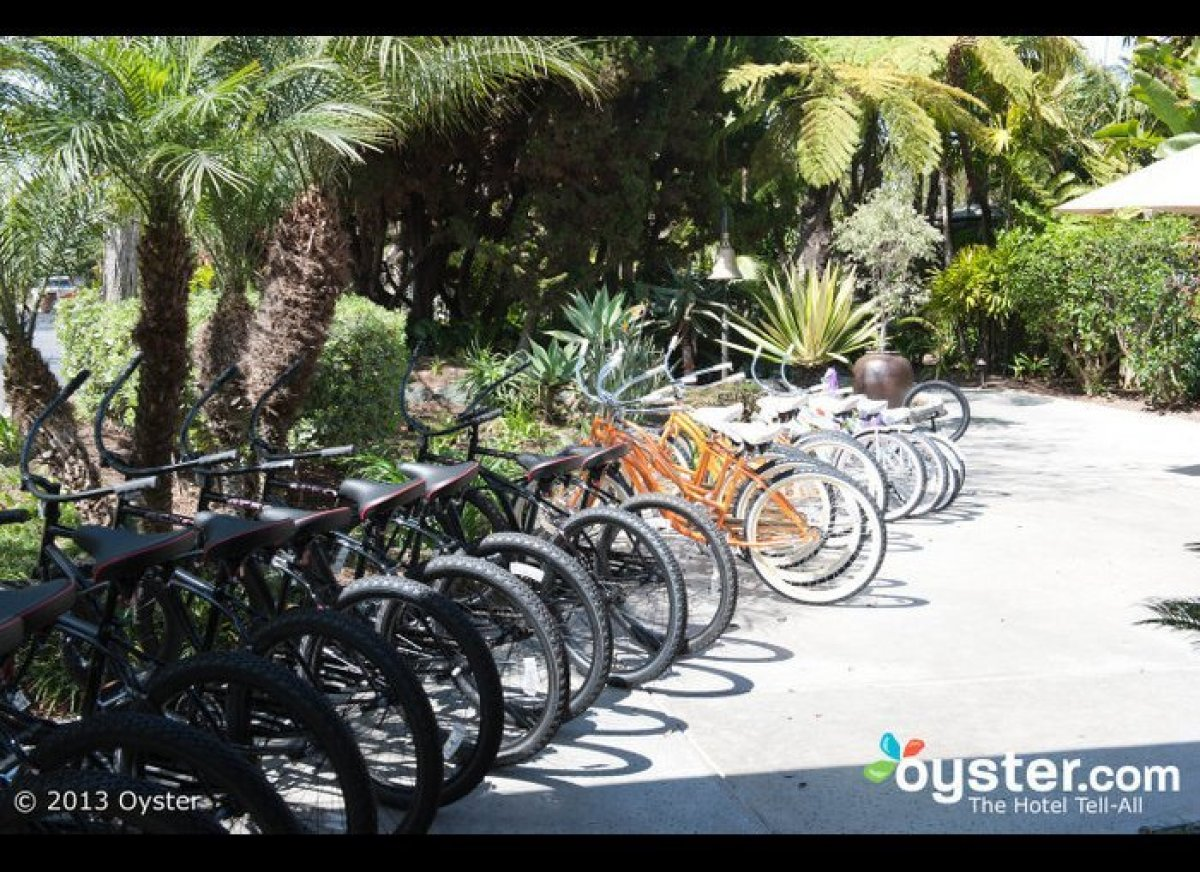 Plenty of hotels offer loaner bikes for guests to use during their stay, but few are located on a 44-acre private island wher