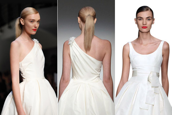 """The hair in the <strong><a href=""""http://www.bridalguide.com/photo-galleries/bridal-gowns/amsale/"""" target=""""_blank"""">Amsale</a><"""