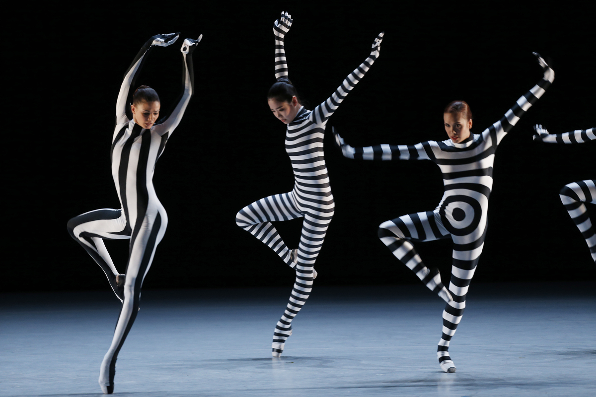 Dancers of the Monte-Carlo ballet perform in the show 'Choré', a new creation by French dancer and choreographer, Jean Christ