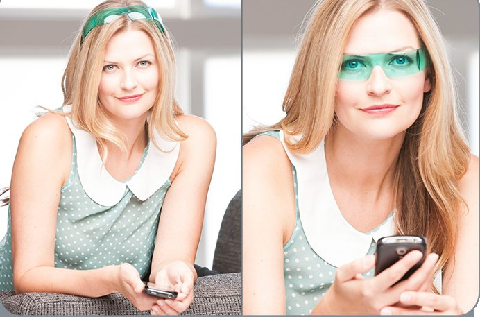 Kelly's invention, Lookie Lous, combines old-fashion readers with headbands to make the glasses stylish and practical.