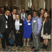 NFTE Alumni at gala cocktail reception. Photo by Margaret Fox 2013