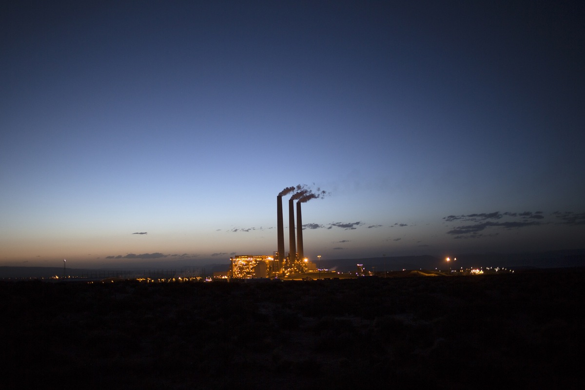 The Navajo Generating Station, one of the nation's dirtiest coal-fired power plants, is in full operation near Page, Arizona