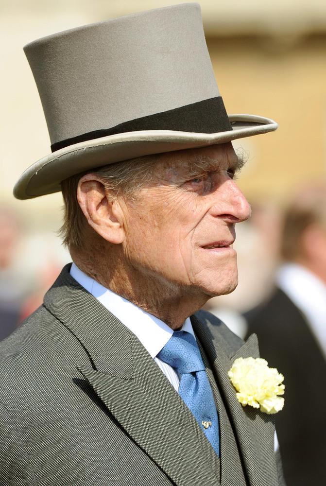 The Duke of Edinburgh attending a Garden Party at Buckingham Palace, London.