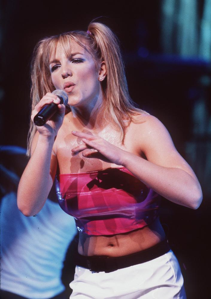 7/31/99 Universal City, CA. Teen pop sensation, Britney Spears performing at the Universal Ampitheater for her 'Baby One More