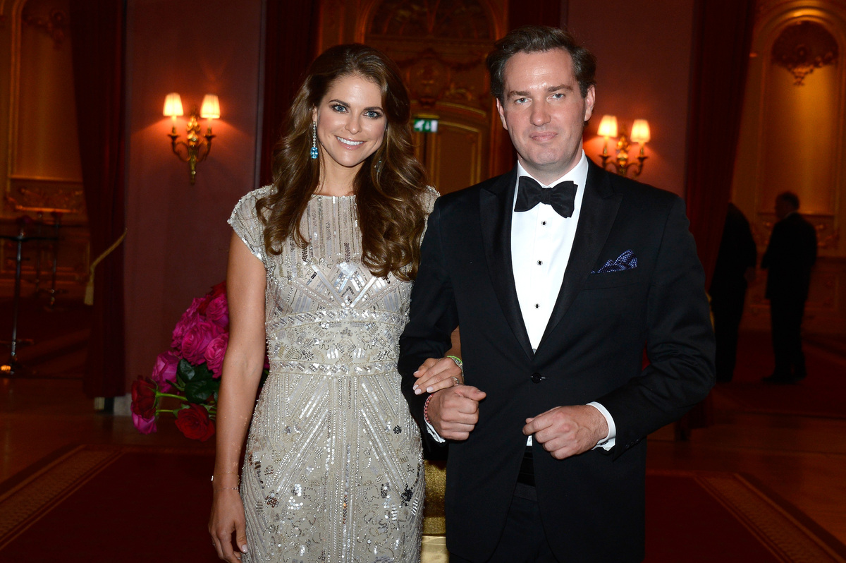 STOCKHOLM, SWEDEN - JUNE 07:  Princess Madeleine of Sweden and Christopher O'Neill attend a private dinner on the eve of the