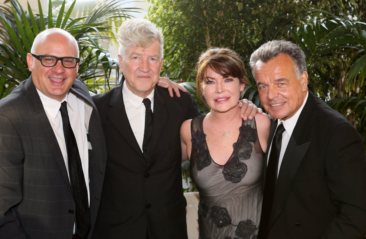 OCMA Director Dennis Szakacs, Honoree David Lynch, actress Lara Flynn Boyle, actor Ray Wise