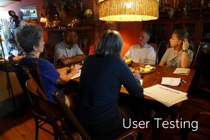 Users test a prototype of My Gift of Grace.