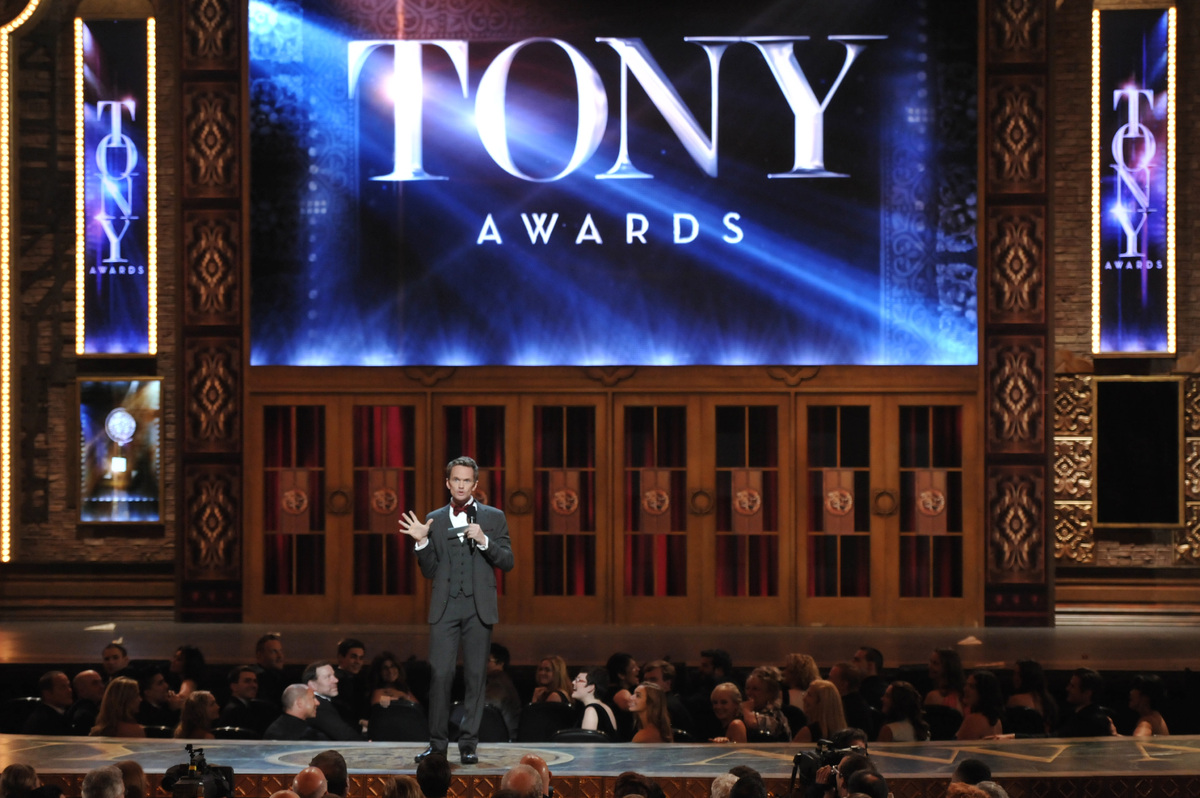 Host Neil Patrick Harris introduces the 67th Annual Tony Awards, on Sunday, June 9, 2013 in New York. (Photo by Evan Agostini
