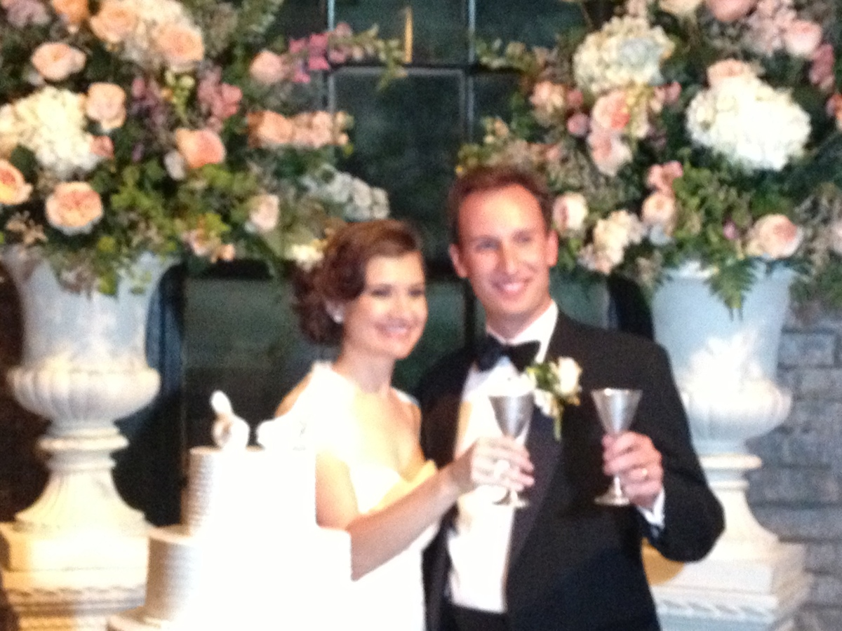 """""""Andy Lauber and bride Keely at a quintessentially elegant New Orleans wedding""""  Submitted by Lisa Block"""