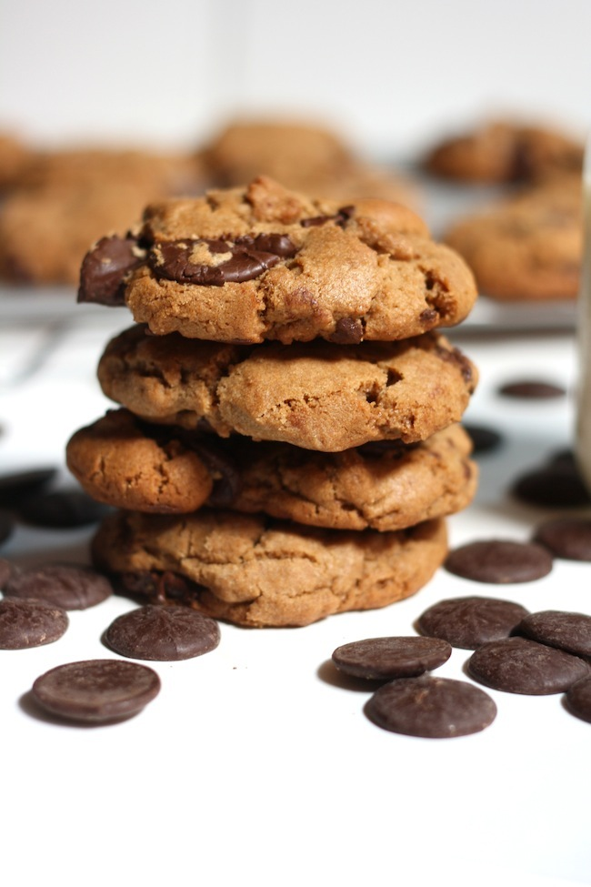 "<strong>Get the <a href=""http://eatbakedrinkcook.com/double-chocolate-peanut-butter-cookies/"" target=""_blank"">Double Chocolat"