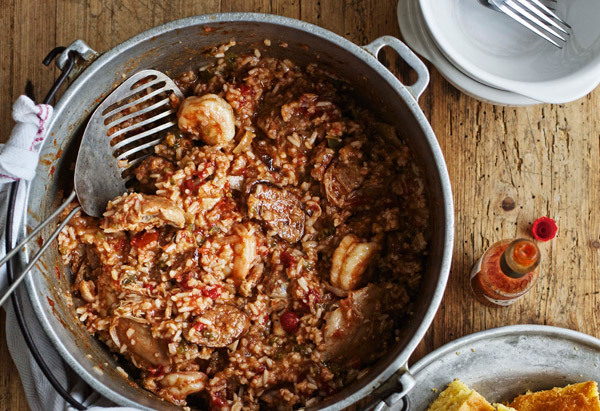It's possible to make jambalaya for fewer than 100 people -- and to do it in less than 12 hours, to boot. This version of the