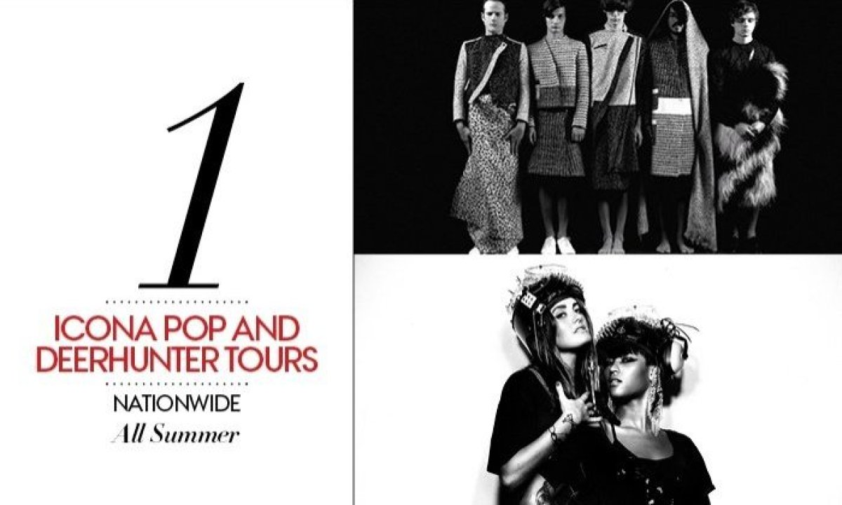 """The riotous pop-house Swedes Icona Pop, riding the wave of Euro dance music by making us """"love it,"""" and Atlanta-based indie d"""