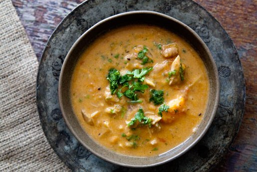 "<strong>Get the <a href=""http://www.simplyrecipes.com/recipes/african_chicken_peanut_stew/"" target=""_blank"">African Chicken P"