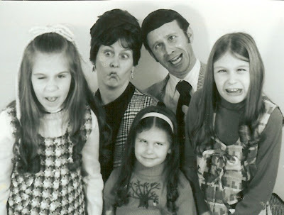 Lori Lavender Luz learned a lot from her father (including how to make a funny face, as seen in this 1970s family Christmas p