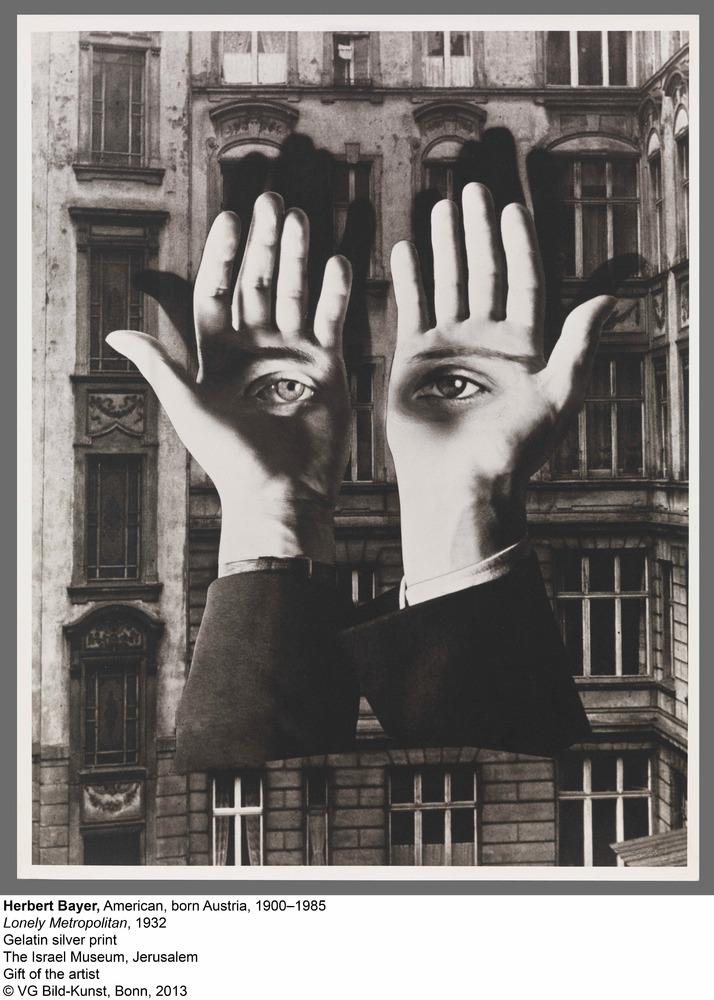 "Herbert Bayer, ""Lonely Metropolitan,"" 1932, Gelatin silver print, The Israel Museum, Jerusalem, Gift of the artist, VG Bild-K"