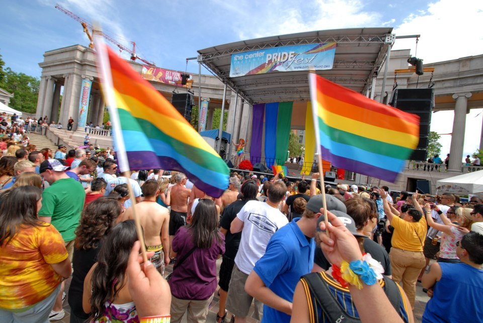 """<a href=""""http://www.glbtcolorado.org/pridefest/"""" target=""""_blank"""">Organizers for the Denver PrideFest claim that it's now the"""