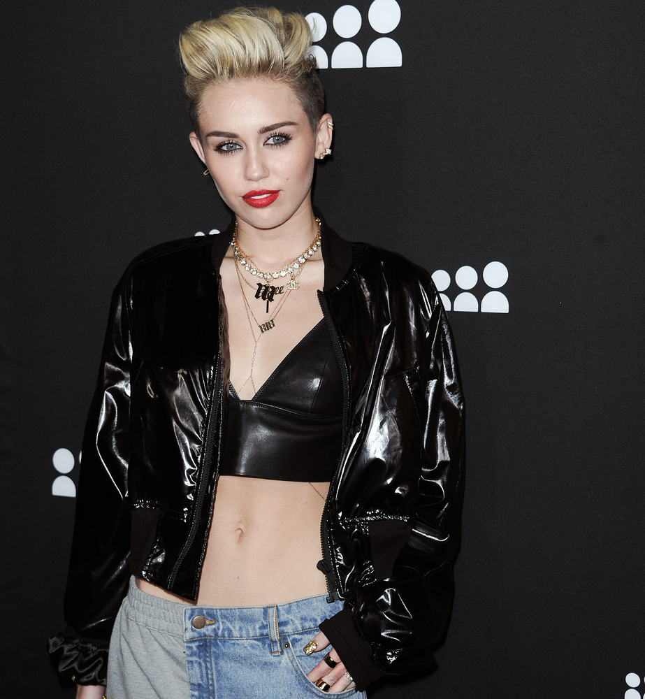 Miley Cyrus arrives at the Myspace event at the El Rey Theater on Wednesday, June 12, 2013 in Los Angeles. (Photo by richard