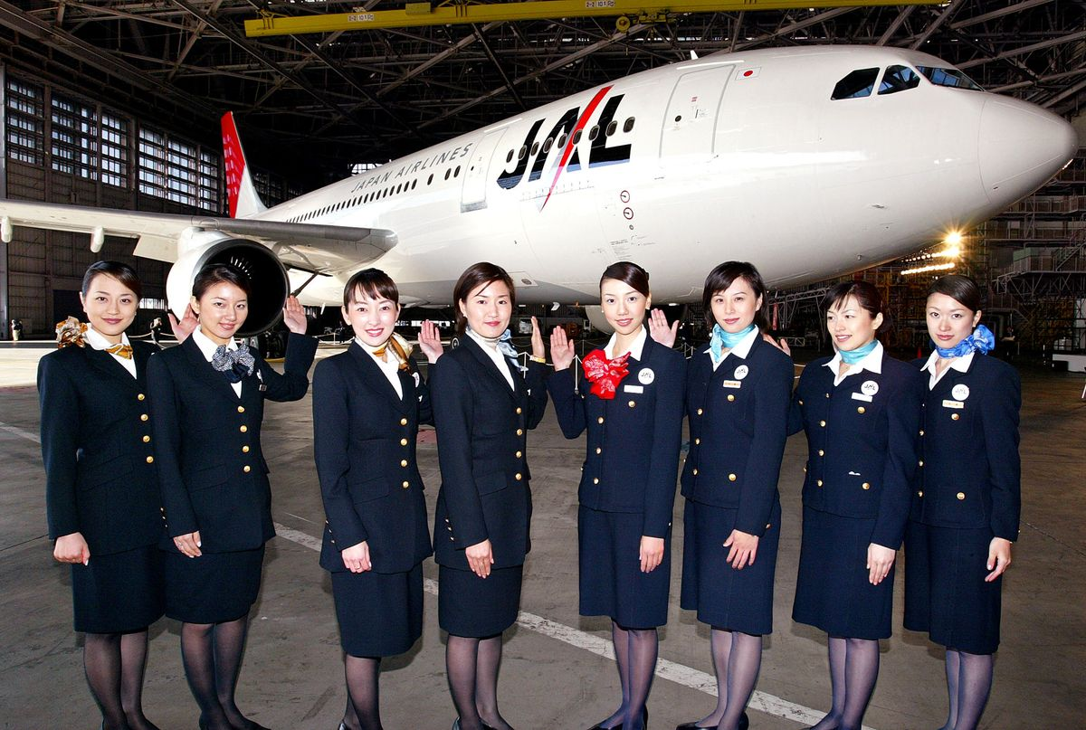 "Japanese flight attendant uniforms became a highly sought after item when <a href=""http://www.telegraph.co.uk/news/worldnews/"