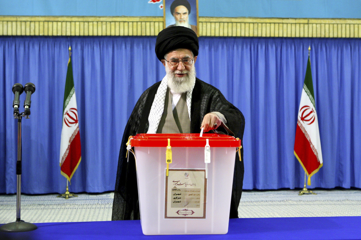 In this photo released by an official website of the Iranian supreme leader's office, Supreme Leader Ayatollah Ali Khamenei c