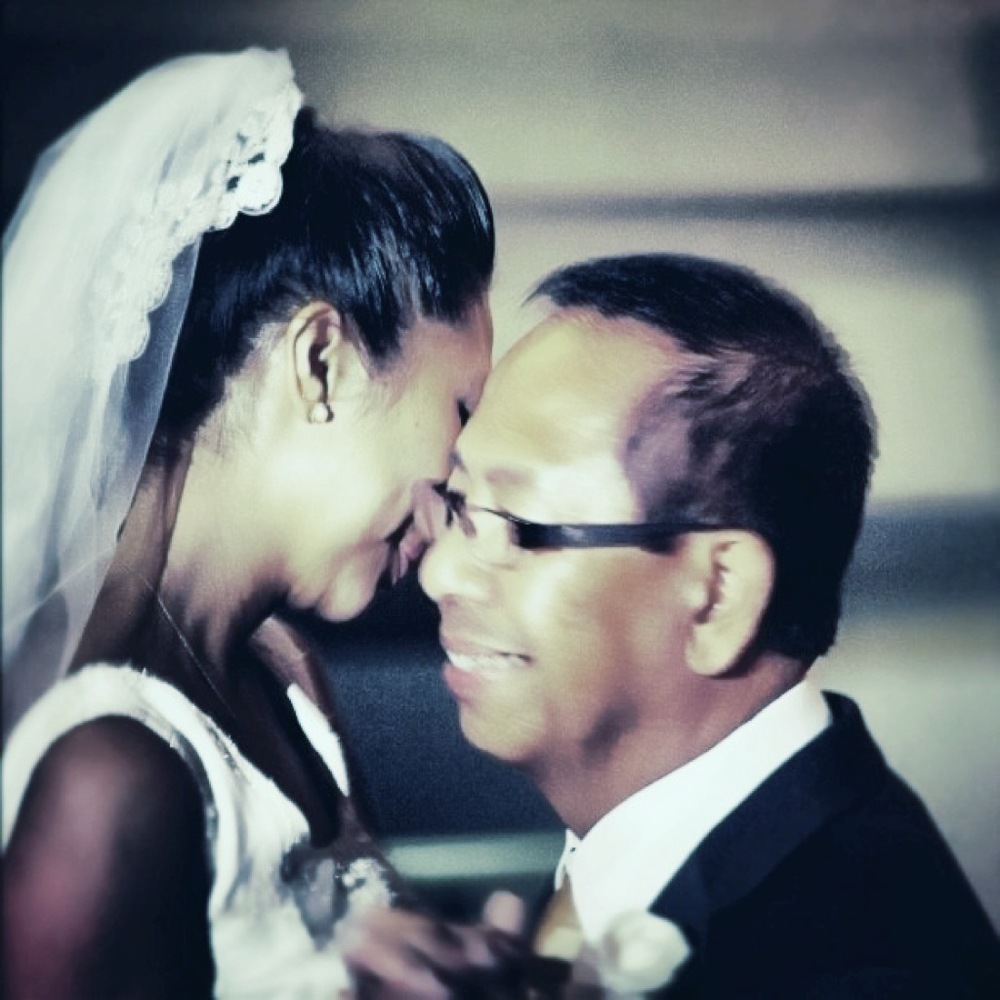 """Father/daughter dance. Me and my dad on my wedding day 8/31/12""  Submitted by Ken & Carol Guinto-Morales"