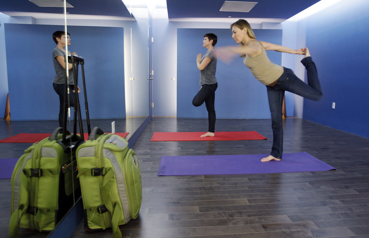 Located in SFO's Terminal 2, the 150-square-foot airport yoga studio is the first of its kind. Visitors can set their luggage