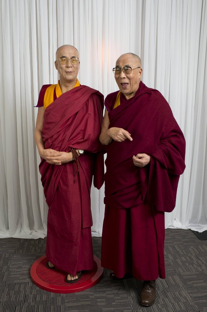SYDNEY, AUSTRALIA - JUNE 14: In this handout photo provided by Madame Tussauds, His Holiness the Dalai Lama visits Madame Tus