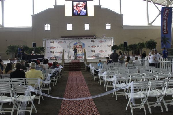The ceremony was held in the Del Mar Arena at the Del Mar Fairgrounds in San Diego.