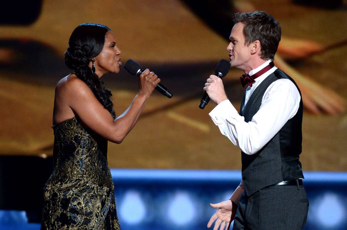 NEW YORK, NY - JUNE 09:  Audra McDonald (L) and Neil Patrick Harris perform onstage at The 67th Annual Tony Awards at Radio C