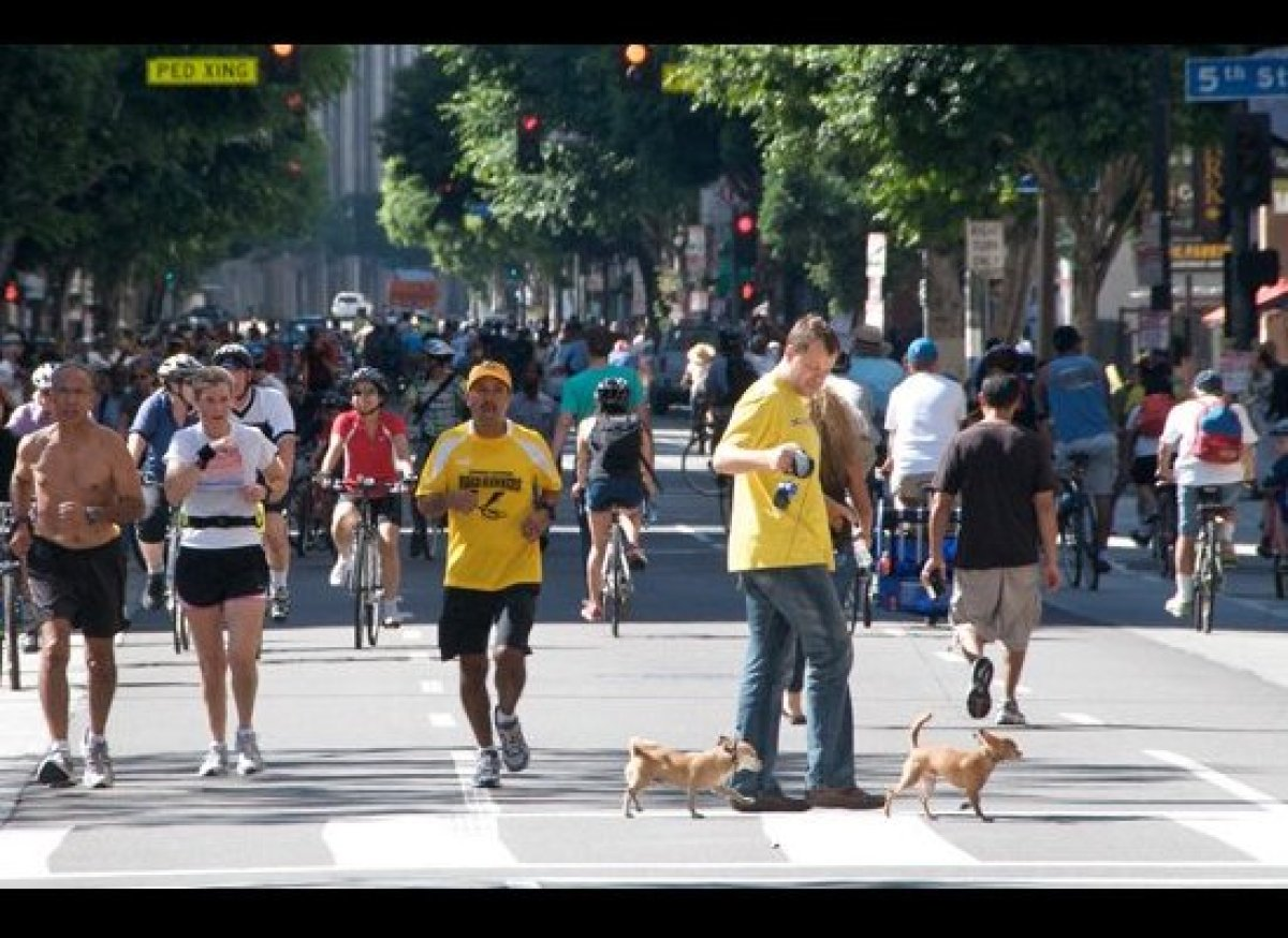 "This Sunday, June 23 from 9:00 AM-4:00 PM, join <a href=""http://www.ciclavia.org"" target=""_hplink"">CicLAvia</a> participants"