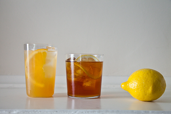 """<strong>Get the <a href=""""http://food52.com/recipes/13244-mint-iced-tea"""" target=""""_blank"""">Mint Iced Tea recipe</a> from Food52<"""