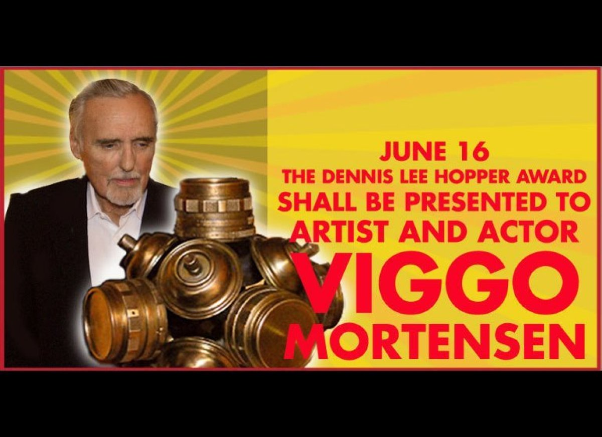 The Dennis Lee Hopper Award is dedicated to the spirit and fierce artistic independence of the actor and artist Dennis Hopper
