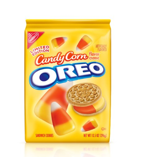 """This Halloween-themed offering <a href=""""http://www.huffingtonpost.com/2012/09/07/candy-corn-oreos_n_1865397.html"""" target=""""_bl"""