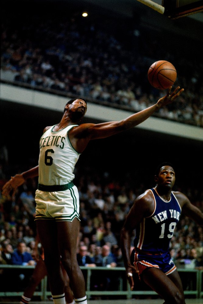 Bill Russell* Game 7 Record: 5-0  1957 (W vs. St. Louis) 19 points, 32 rebounds  1960 (W vs. St. Louis) 22 points, 35 rebound