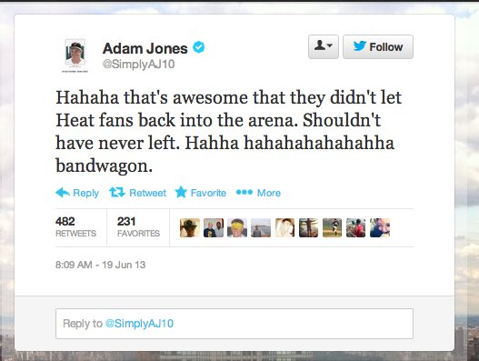 The sheer, pathetic display hundreds of Heat fans put on in leaving Game 6 before regulation had ended, was not lost on multi