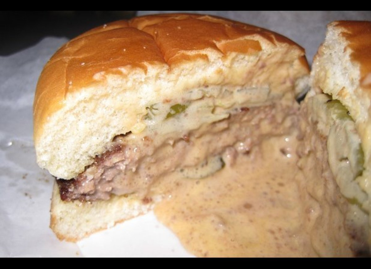 """Ah, the inimitable Jucy Lucy (yes, Matt's spells it without the """"i""""). While the battle rages between Matt's Bar and the nearb"""