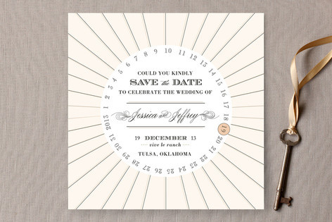 """These save the dates will set a glam, fun tone for your wedding.  <a href=""""http://lover.ly/explore?q=vintage+stationery&u"""