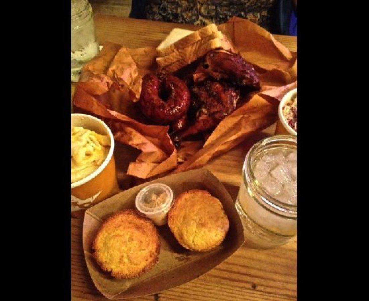 Meals are pretty laid back at Hill Country, so unwrap the meat you ordered from its package of butcher paper and enjoy.