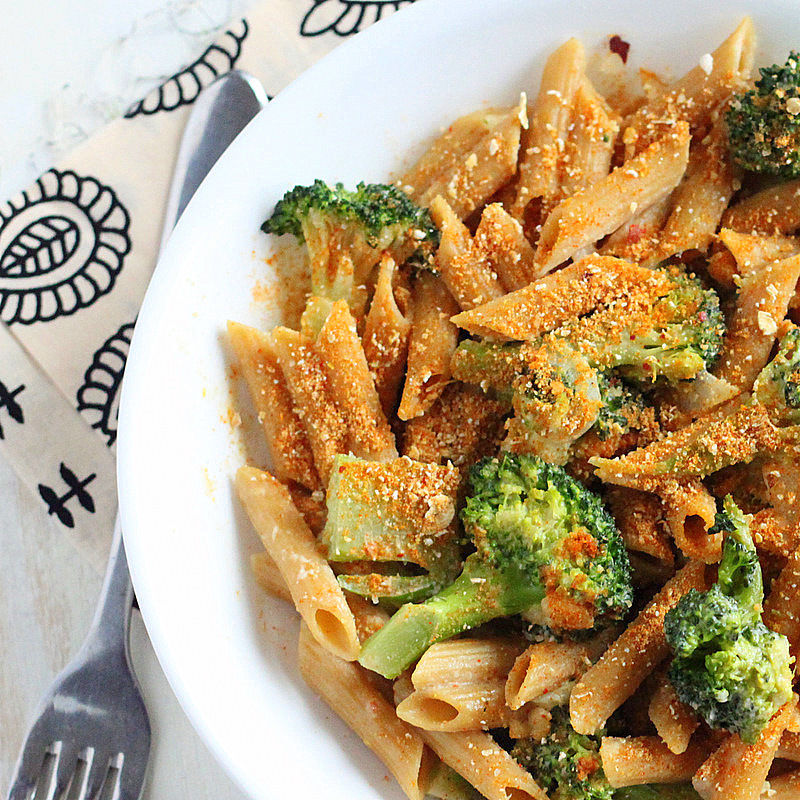 """<strong>Get the <a href=""""http://www.veganricha.com/2012/02/penne-and-broccoli-in-dorito-cream.html"""" target=""""_blank"""">Penne and"""