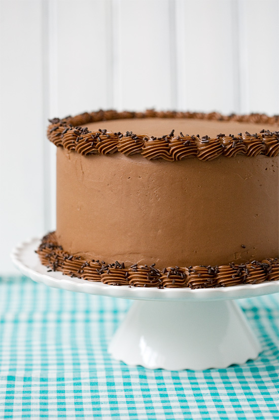 """<strong>Get the <a href=""""http://www.loveandoliveoil.com/2012/01/bourbon-layer-cake-with-bourbon-ganache-and-milk-chocolate-bu"""