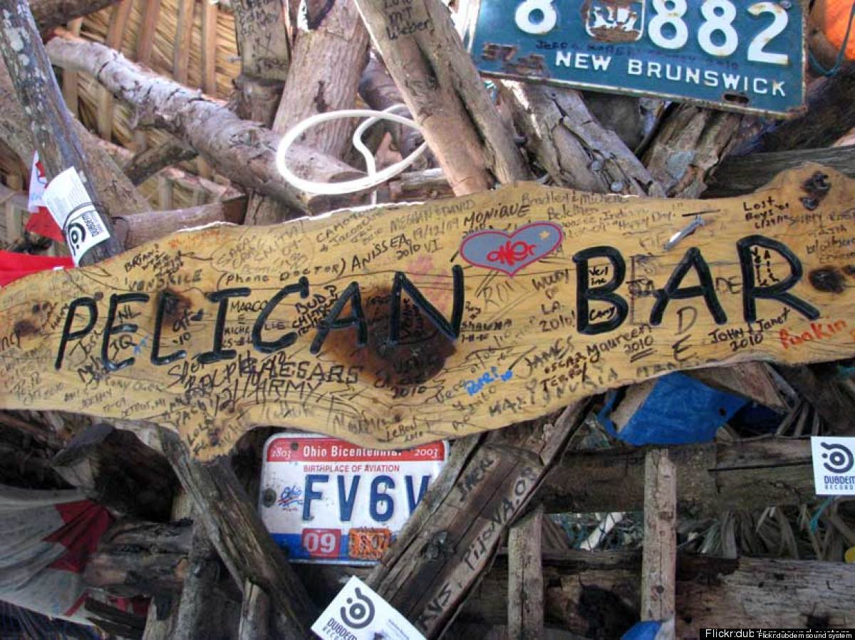 Resting on stilts on a sand bank off the shore of Treasure Beach, Pelican Bar looks like something straight out of the Pirate