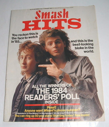 "Black Type. The readers' polls. ""Thumbs aloft"" Macca. Yes, Smash Hits' heyday was the '80s - and there was no finer, funnier"