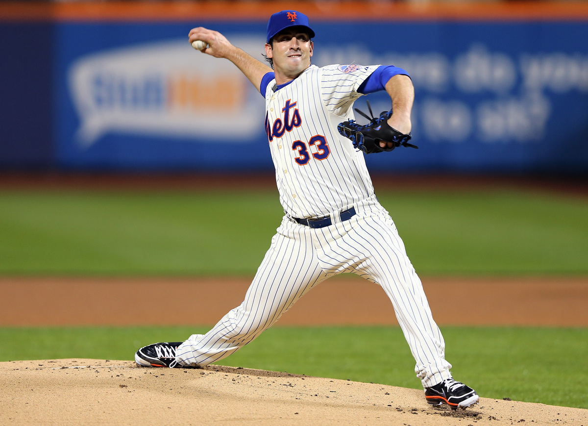 NEW YORK, NY - MAY 28:  Matt Harvey #33 of the New York Mets delivers a pitch in the first inning against the New York Yankee