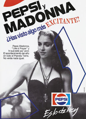 Pepsi contracted Madonna at the height of her popularity to represent their brand in 1989, for $5 million. The singer was can