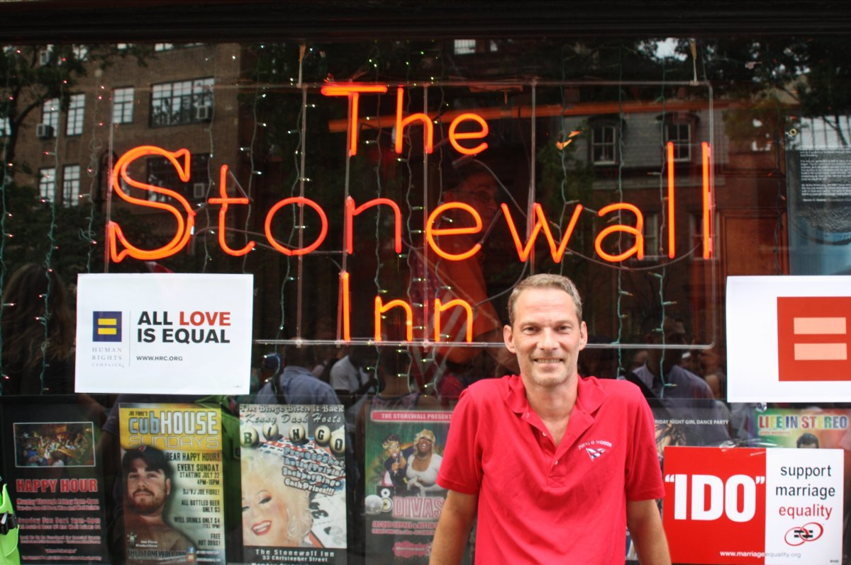 """Me at the Stonewall Inn on """"Decision Day,"""" June 26, 2013"""