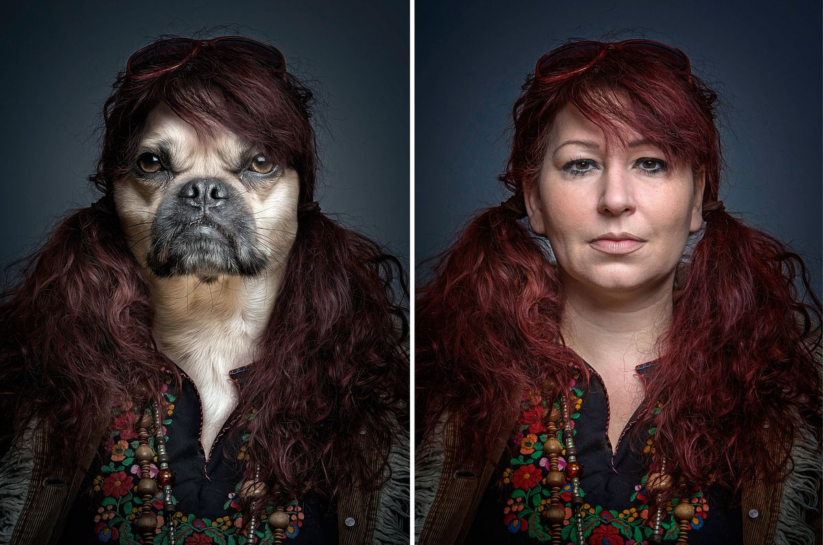Photographer Sebastian Magnani, 27, has cleverly spliced the features of four-legged friends with the head and shoulders of t
