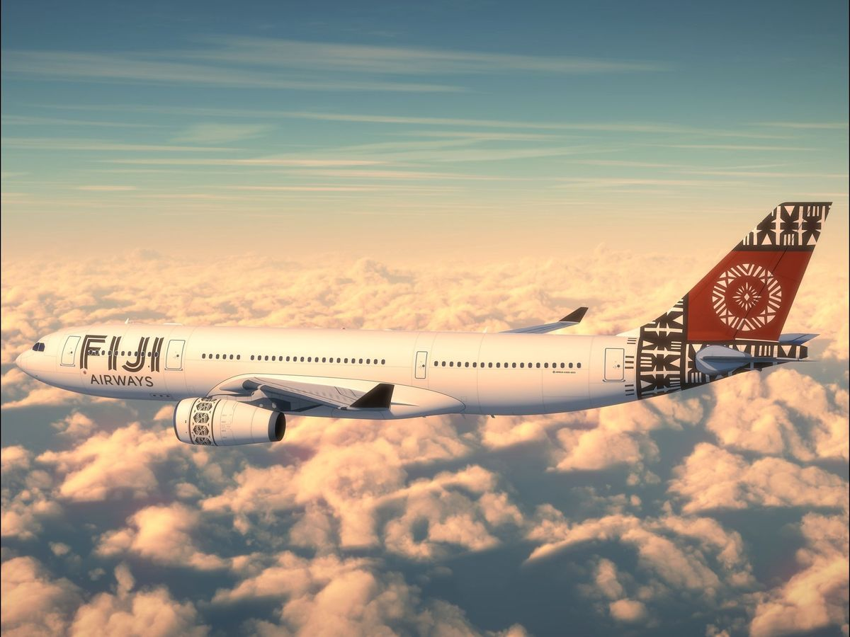 Fiji Airways gave its updated aircraft a colorful makeover.