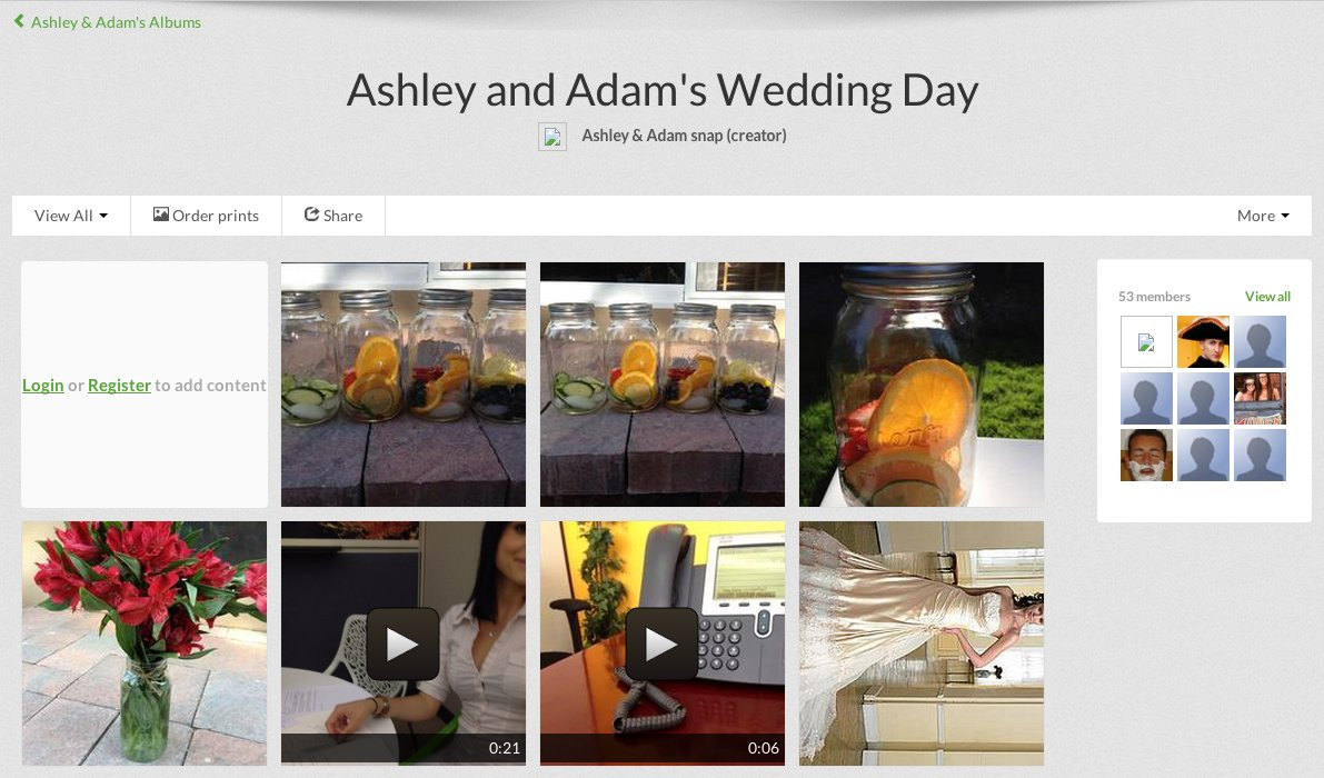 """After signing up on <a href=""""https://www.weddingsnap.com/site/tour/"""" target=""""_blank"""">WeddingSnap.com</a>, tell your guests to"""
