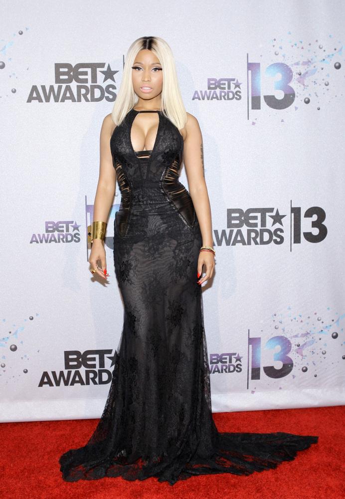 LOS ANGELES, CA - JUNE 30:  Singer Nicki Minaj, winner of the Best Female Hip Hop Artist Award poses in the Backstage Winner'